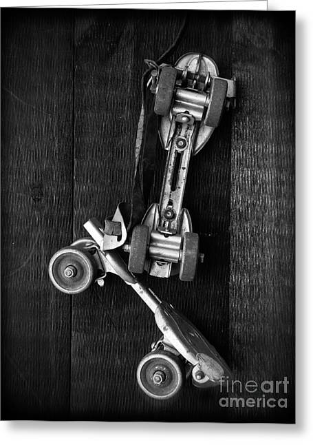 Old Skates Photographs Greeting Cards - Old Friends Greeting Card by Edward Fielding