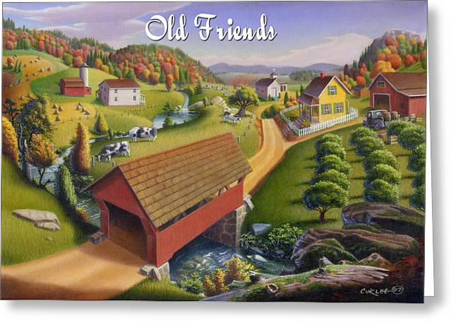 Tennessee Barn Paintings Greeting Cards - Old Friends Greeting Card by Walt Curlee