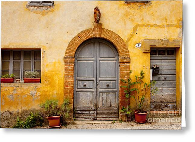 Entryway Greeting Cards - Old Front Door Greeting Card by Brian Jannsen