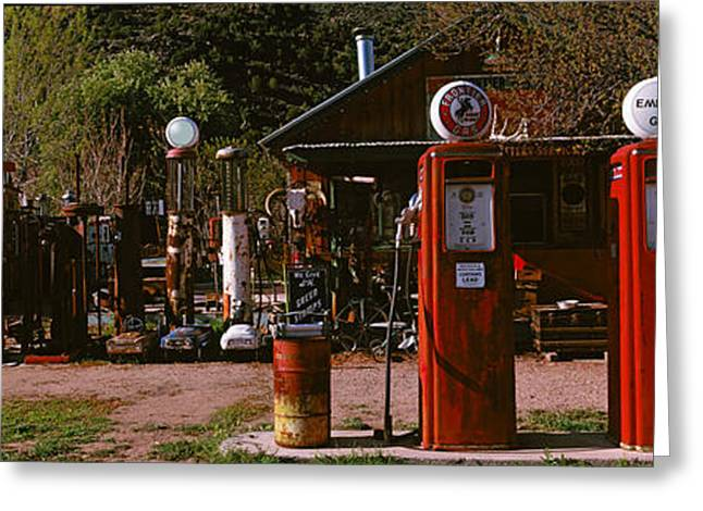 Diesel Greeting Cards - Old Frontier Gas Station, Embudo, New Greeting Card by Panoramic Images