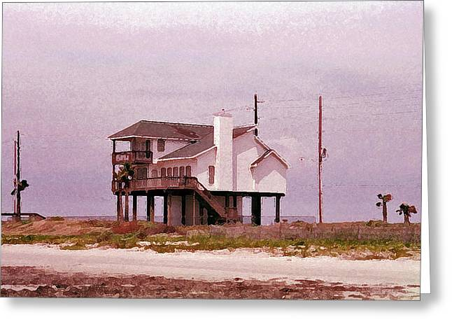 Galveston Greeting Cards - Old Galveston Greeting Card by Roger Reeves  and Terrie Heslop