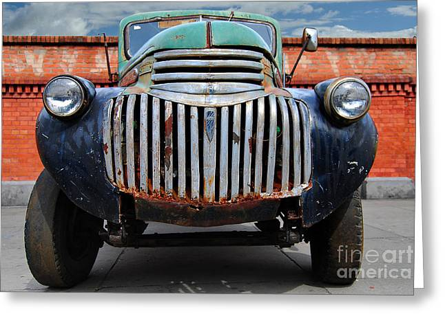 General Concept Greeting Cards - Old General Motors Truck Greeting Card by Carlos Alkmin