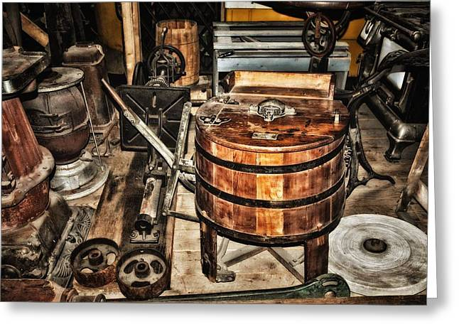 Run Down Mixed Media Greeting Cards - Old General Store 3 Greeting Card by Todd and candice Dailey