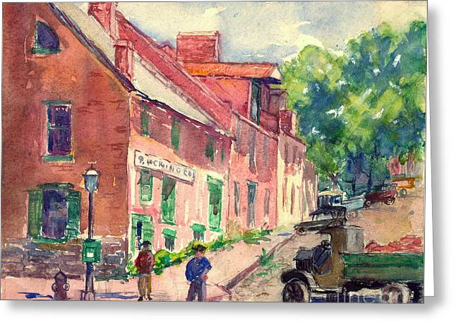 Old Georgetown Dc 1910 Greeting Card by Padre Art