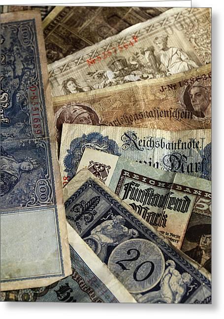 Antik Greeting Cards - Old German money Greeting Card by Falko Follert