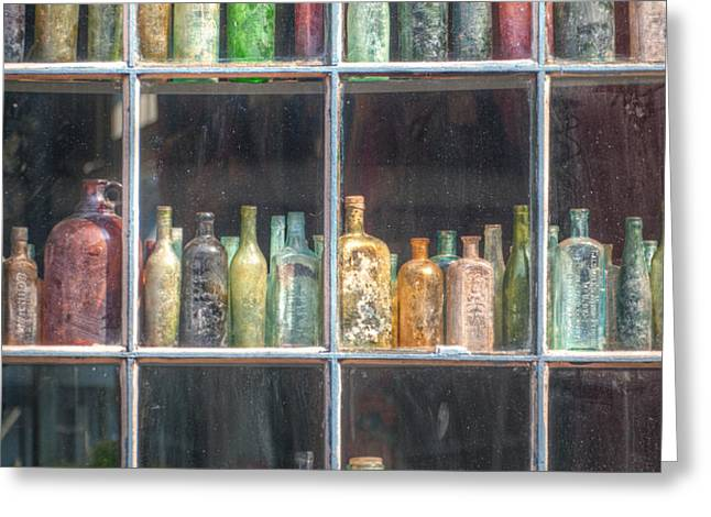 Old Glass Greeting Card by Brenda Bryant