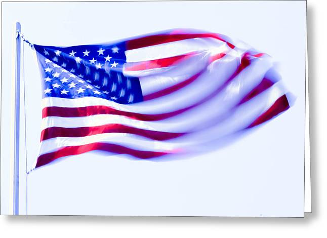 Stars And Strips Greeting Cards - Old Glory Greeting Card by Brian Stevens