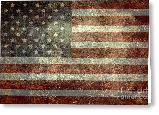The White Stripes Greeting Cards - Old Glory Greeting Card by Bruce Stanfield