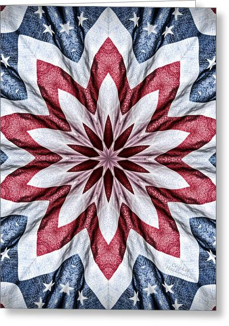 Old Glory Greeting Card by Cricket Hackmann
