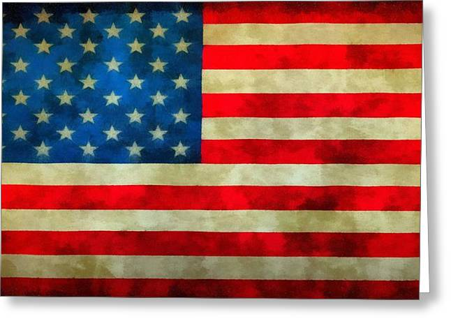 Old Glory Greeting Card by Dan Sproul