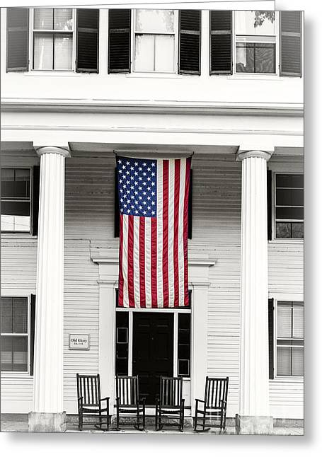 Old Glory Est. 1776 Greeting Card by Edward Fielding
