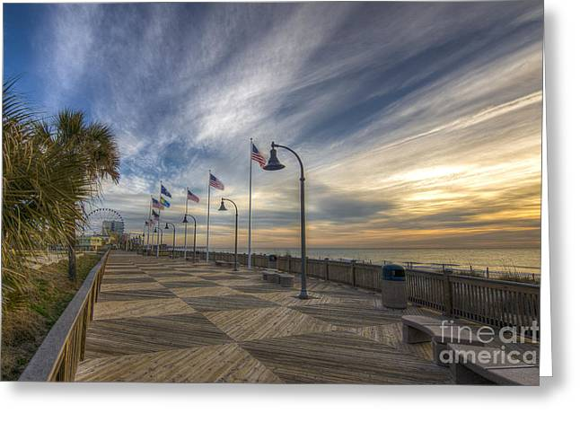 Myrtle Beach Greeting Cards - Old Glory Flying Greeting Card by Matthew Trudeau