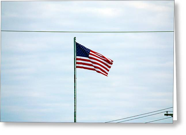 Pastimes Greeting Cards - Old Glory Greeting Card by Jeff Tuten
