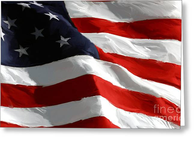 4th Digital Art Greeting Cards - Old Glory Greeting Card by Paul Tagliamonte