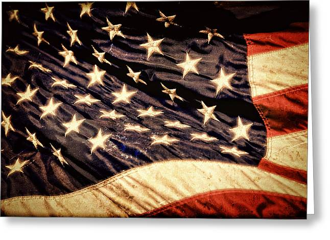 American Conservative Party Greeting Cards - Old Glory Perseveres Greeting Card by Lincoln Rogers