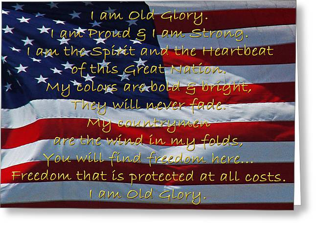 Old Glory Greeting Card by Robyn Stacey
