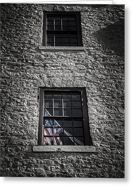 Bricks Greeting Cards - Old Glory Greeting Card by Scott Norris