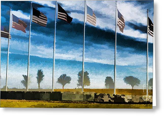 Free Speech Greeting Cards - Old Glory-The American Flag Greeting Card by Luther   Fine Art