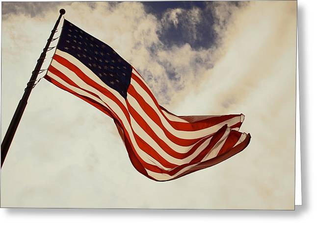 4th July Photographs Greeting Cards - Old Glory Greeting Card by Tony Grider