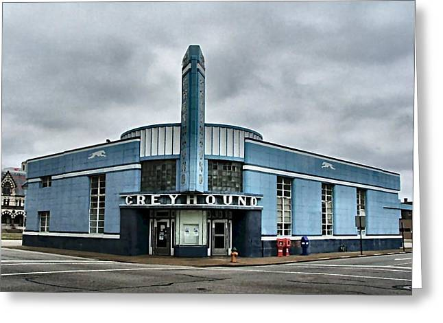 Julie Riker Dant ography Photographs Greeting Cards - Old Greyhound Bus Terminal  Greeting Card by Julie Dant