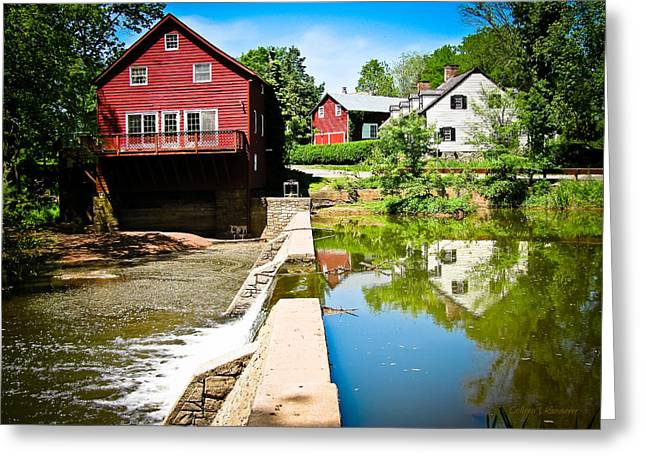 Red Mill Historic Village Greeting Cards - Old Grist Mill  Greeting Card by Colleen Kammerer