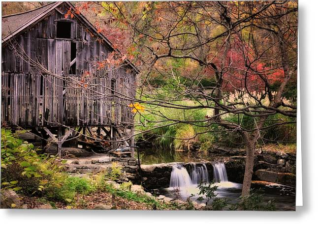 Grist Mill Greeting Cards - Old Grist Mill - Kent Connecticut Greeting Card by Thomas Schoeller