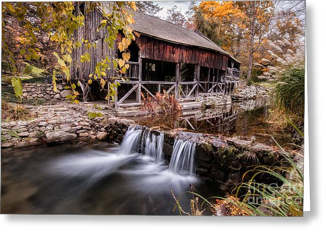 Old Grist Mill - Macedonia Connecticut  Greeting Card by Thomas Schoeller