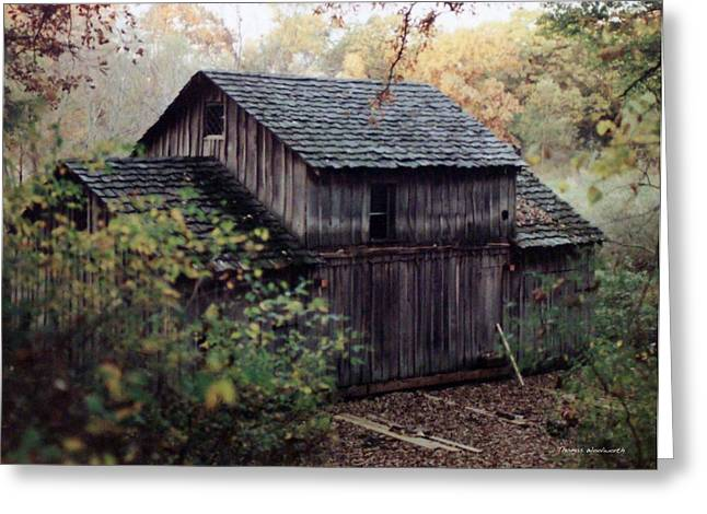 Photography By Thomas Woolworth Greeting Cards - Old Grist Mill Greeting Card by Thomas Woolworth