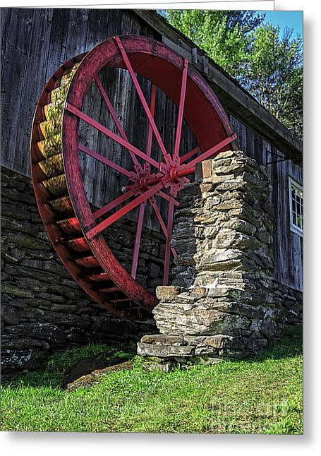 Wheels Photographs Greeting Cards - Old Grist Mill Vermont Greeting Card by Edward Fielding