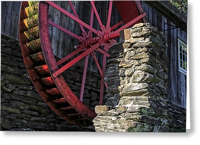 Old Grist Mill Vermont Greeting Card by Edward Fielding