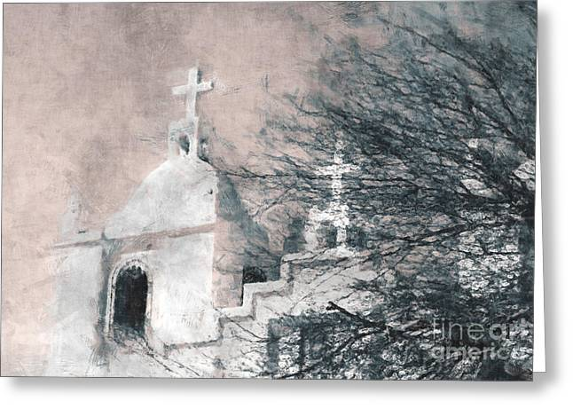 Julielueders Greeting Cards - Old Guadalupe Church Greeting Card by Julie Lueders