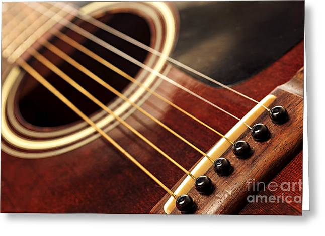 Playing Musical Instruments Greeting Cards - Old guitar Greeting Card by Elena Elisseeva