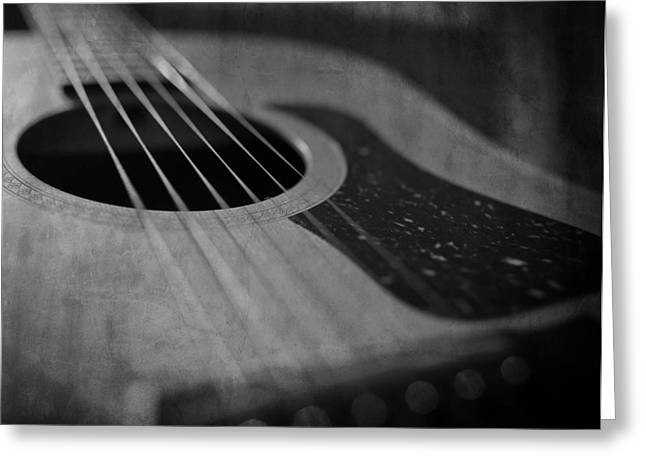 Analog Greeting Cards - Old Guitar Greeting Card by Everett Bowes