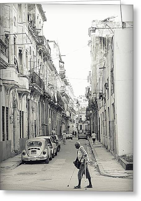 Run Down Greeting Cards - Old Habana Greeting Card by Valentino Visentini