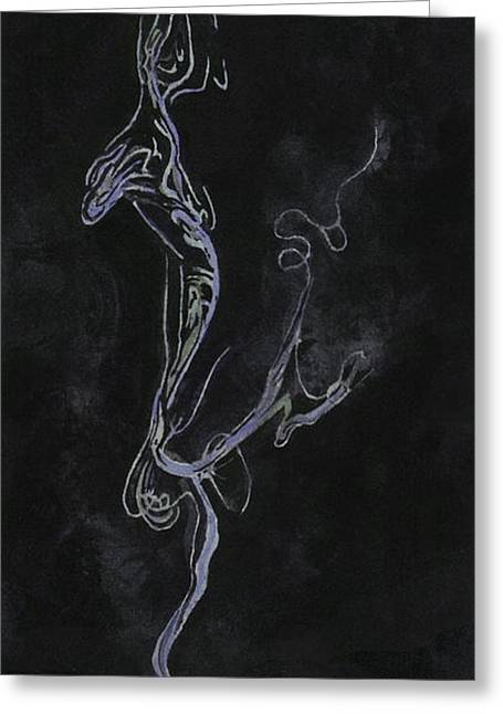 Smoking Cigarette Greeting Cards - Old Habits and Daydreams Greeting Card by Sam Sidders