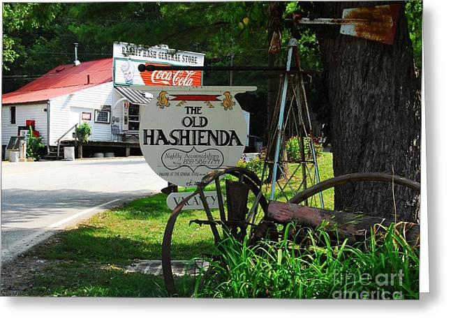 Small Towns Greeting Cards - Old Hashienda Greeting Card by Mel Steinhauer