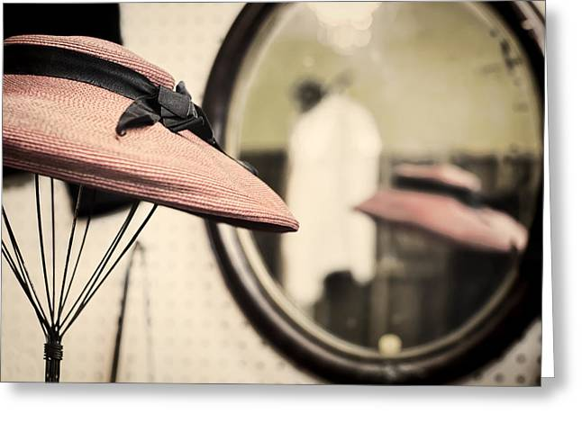 Old Hat Greeting Card by Heather Applegate