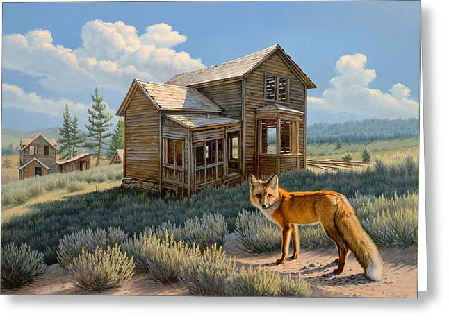Red Fox Greeting Cards - Old Haunts  Greeting Card by Paul Krapf