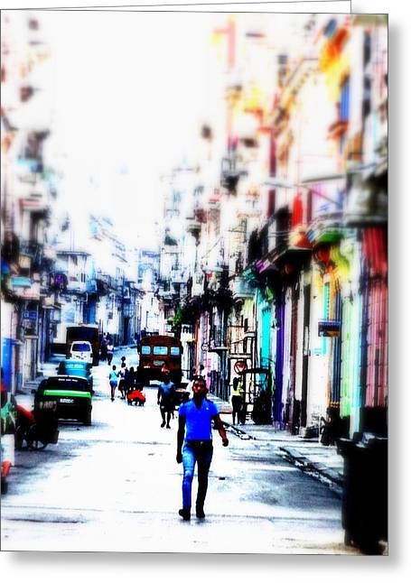 Magic Time Greeting Cards - Old Havana Magic Walk  Greeting Card by Funkpix Photo Hunter