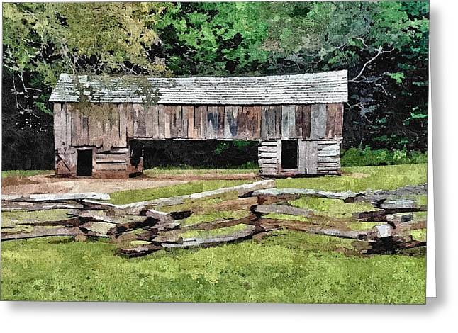 Tennessee Barn Greeting Cards - Old Hay Barn Greeting Card by John Trommer