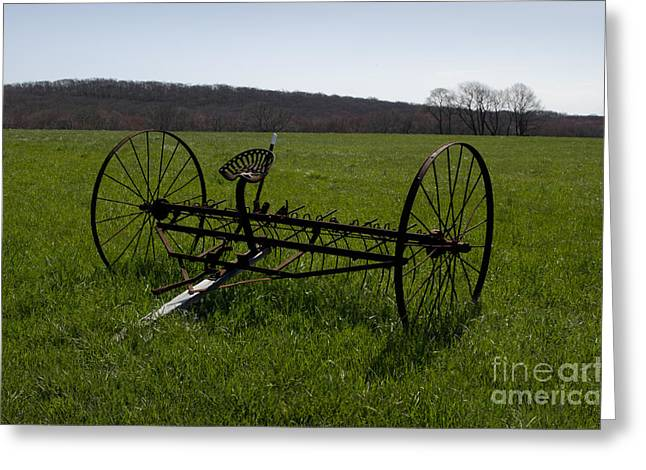 Hay Rake Greeting Cards - Old Hay Rake Greeting Card by David Gordon