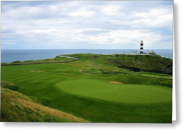 Recently Sold -  - Blue Sailboats Greeting Cards - Old Head Golf Club Kinsale Ireland Greeting Card by Scott Carda