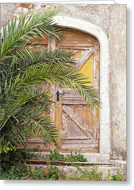 Middle Eastern Culture Greeting Cards - Old hidden door Greeting Card by Sinisa Botas