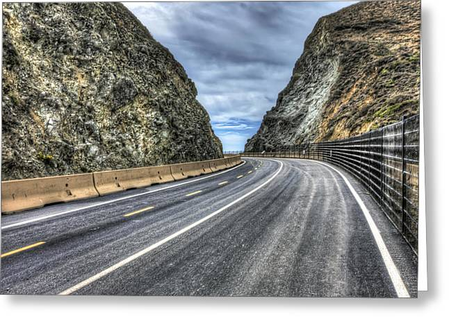 Road Travel Greeting Cards - Old Highway at Devils Slide Trail in San Mateo County California Greeting Card by Jennifer Rondinelli Reilly