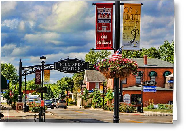 Hilliard Greeting Cards - Old Hilliard Ohio Greeting Card by Jack Schultz