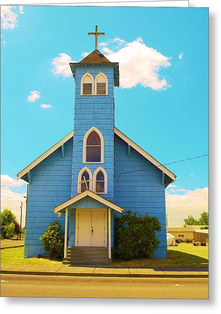 Christain Cross Greeting Cards - Old Historic Church Greeting Card by Richard Jenkins