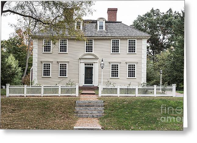 Old Inns Greeting Cards - Old Historic Deerfield Massachusetts Greeting Card by Edward Fielding
