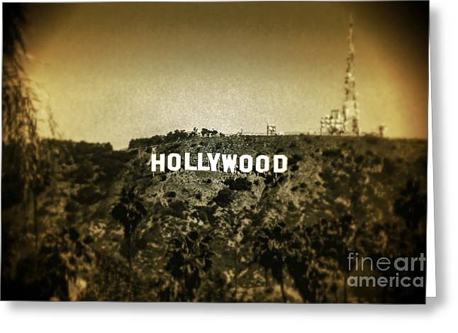Signed Digital Greeting Cards - Old Hollywood Greeting Card by Az Jackson