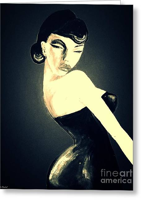 Woman In A Dress Greeting Cards - Old Hollywood New Dress Greeting Card by Sarah  Rachel