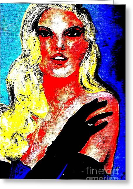 Old Hollywood Greeting Card by P J Lewis